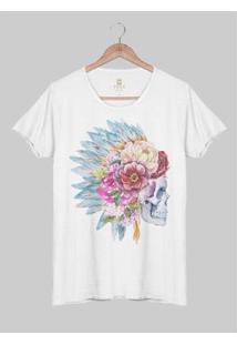Camiseta Estonada Corte À Fio Joss Pajzelo Masculina - Masculino-Branco