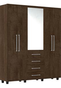 Guarda-Roupa Las Vegas Iii Com 5 Portas E Com Espelho Rv Móveis Marrom - Tricae