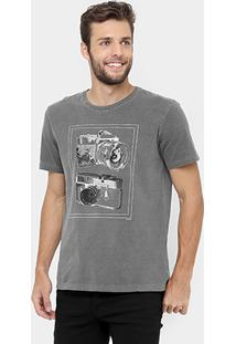 Camiseta M. Officer Photo Stone - Masculino