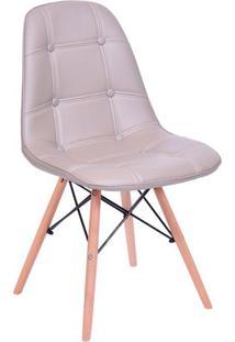 Cadeira Eames Botonãª- Fendi & Marrom Claro- 83X44X39Or Design