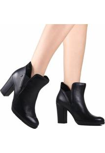 Bota Cravo E Canela Ankle Boot Feminina - Feminino-Preto