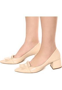 Scarpin Dafiti Shoes Franja Bege