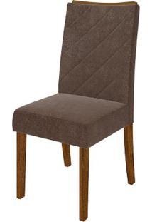 Cadeira Golden 2 Peças - Pena Marrom - Rústico Malbec