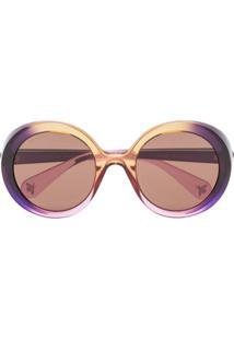 ... Gucci Eyewear Óculos De Sol Redondo - Roxo 95665747b6