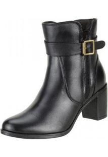 Bota Art Shoes Ankle Boot - Feminino-Preto