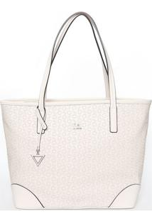 Bolsa Merry Medium Tote - Off White - 29X32X17Cmguess