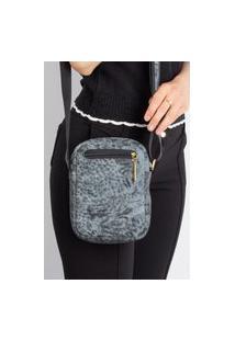 Bolsa Shoulder Bag De Couro Pietra Azul Mescla