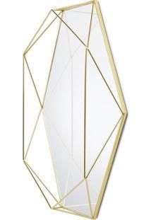 Espelho Prisma 56X42 Cm Metal Dourado Umbra