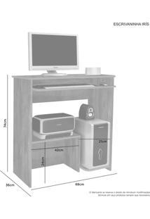 Escrivaninha Mesa Para Computador Iris Candian Cacau