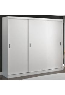 Guarda-Roupa Casal 3 Portas De Correr 100% Mdf 774G4 Branco - Foscarini