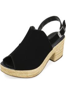 Sandália Ankle Boot Yellow Yl18-1930 Preto
