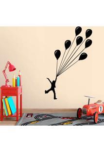 Adesivo De Parede Menino Balões