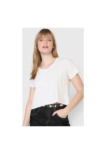 Camiseta Cropped Oh, Boy! Adiction Off-White