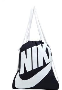 Mochila Saco Nike Sportswear Heritage Azul-Marinho/Branca