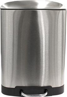 Lixeira Retangular Com Pedal 12 Litros Inox Escovado