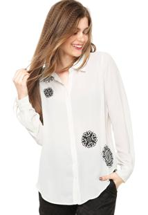 Camisa Manga Longa Desigual Esther Branca