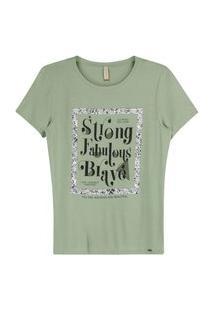 Blusa Feminina Strong Fabulous Brave Marialicia