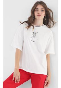 Camiseta Colcci Minnie Off-White