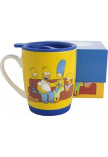 Caneca Família The Simpsons Geek10 Amarelo