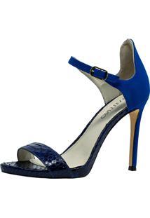 Sandália Veleno Python Azul
