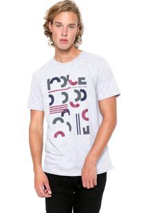 Camiseta Iódice Manga Curta Estampada Cinza