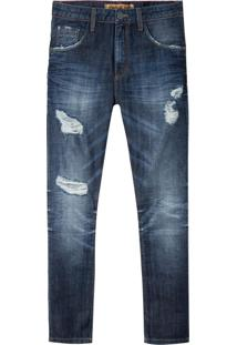 Calça John John Rock Oslo 3D Jeans Azul Masculina (Jeans Escuro, 40)