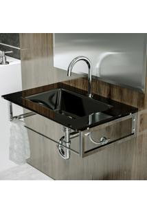 Gabinete Para Banheiro De Vidro William Astra Gp-W Pr Preto