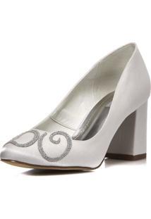 Sapato Boneca Durval Calçados Noiva I Do Salto Confortável - 2300/534 Branco