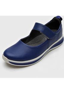 Sapatilha Usaflex Conforto Azul