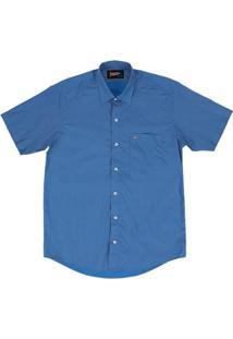 Camisa Manga Curta Masculina Fast Back - Masculino-Azul Escuro