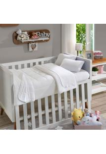 Lençol Com Elástico Para Berço Soft Baby Liso Pérola - Sbx Têxtil