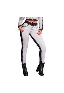 Calça Jogger Feminina Pit Bull Jeans 38359 Pitbull Preto Com Branco