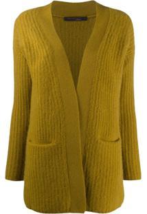 Incentive! Cashmere Cardigan De Cashmere Com Abertura Frontal - Verde