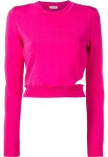 Mugler Suéter Com Recorte - Rosa