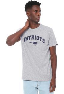 Camiseta New Era England Patriots Cinza