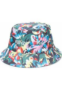 Kenzo Chapéu Bucket Com Estampa Floral - Verde