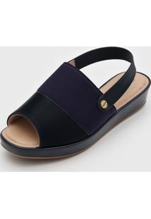 Sandália Modare Slingback Azul-Marinho