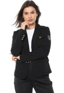 Blazer Queens Paris Militar Preto