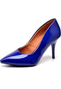 Scarpin Casual Ellas Online Salto Médio Azul