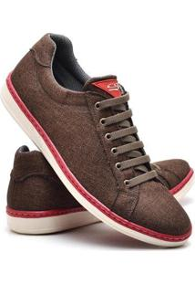 Sapatenis Top Franca Shoes Masculino - Masculino-Marrom