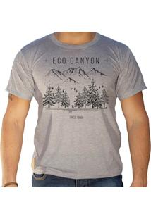 Camiseta Masculina Eco Canyon Draw Camp Cinza