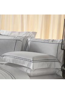 Fronha Avulsa Plumasul Premium Harmonious 50X150Cm Branca/Azul