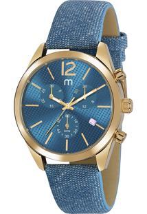 Kit De Relógio Analógico Mondaine Feminino + Pulseira - 53859Lpmgdh1K Azul Claro