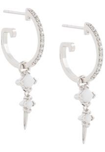 V Jewellery Par De Brincos Com Cristal - Metálico