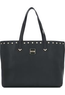 Versace Jeans Couture Bolsa Tote Grande - Preto