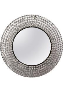 Espelho Redondo- Espelhado & Prateado- Ø50X3Cm- Decor Glass