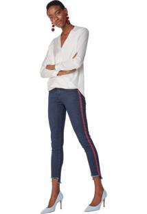 Calça Jeans Skinny Listras Laterais