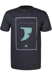 Camiseta Reef Masculina Kell - Masculino-Chumbo