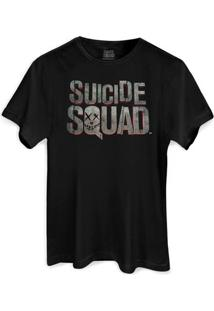 Camiseta Dc Comics Bandup! Esquadrão Suicida Logo - Masculino-Preto