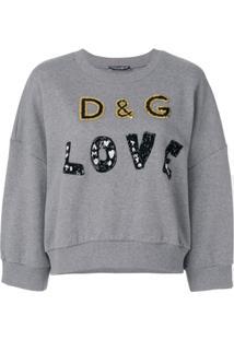 Dolce & Gabbana Suéter 'D&G Love' - Cinza